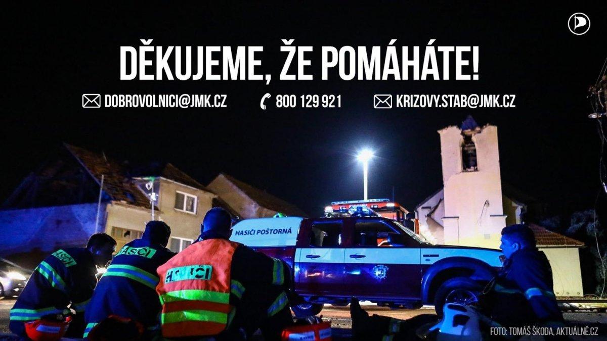 Tornádo na jižní Moravě spustilo vlnu solidarity, zapojte se i vy!