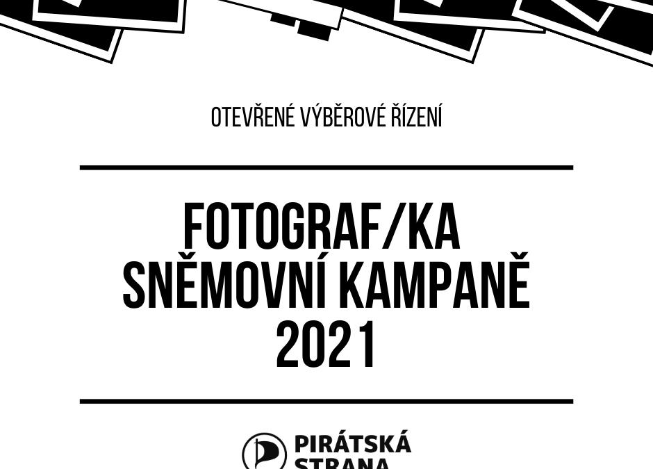 Otevřené výběrové řízení - fotograf/ka sněmovní kampaně 2021