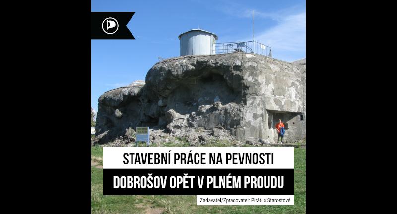 Stavební práce na pevnosti Dobrošov opět v plném proudu