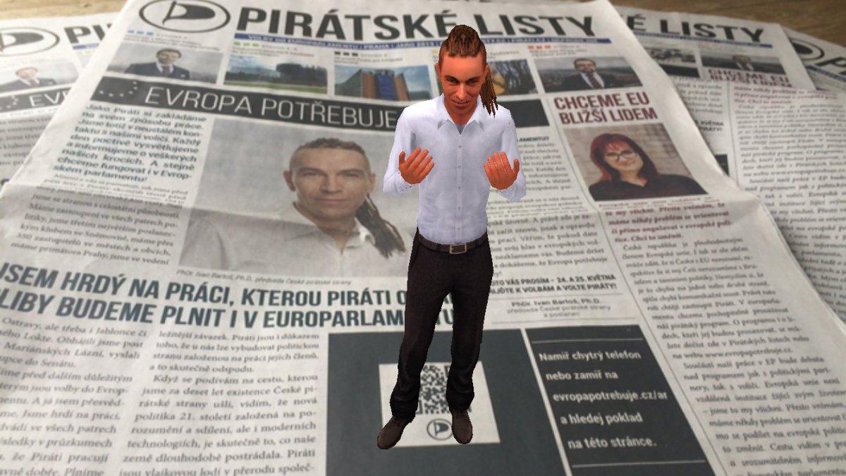 Stáhni si Ivana Bartoše ve 3D a s ním i Pirátské listy pro Liberecký kraj