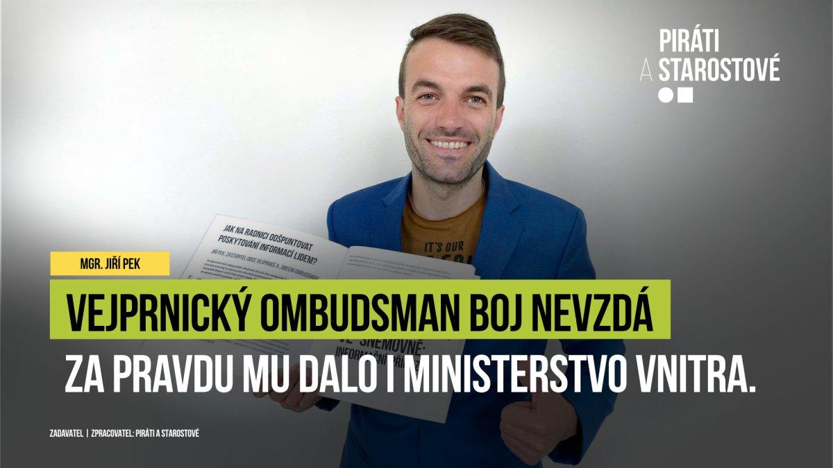 Vejprnický ombudsman v boji za informovanost občanů v obci dostal za pravdu i od Vnitra!
