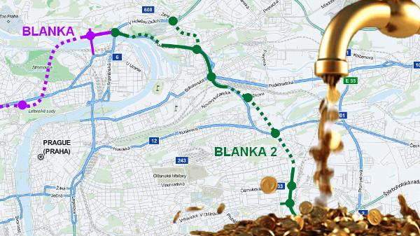 Bude Blanka 2? Místo řešení jedou trafiky a nefér financování městských částí. Piráti nesouhlasí.