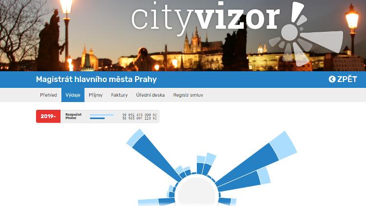 Praha spouští aplikaci CityVizor, do hospodaření města bude moci jednoduše nahlížet každý