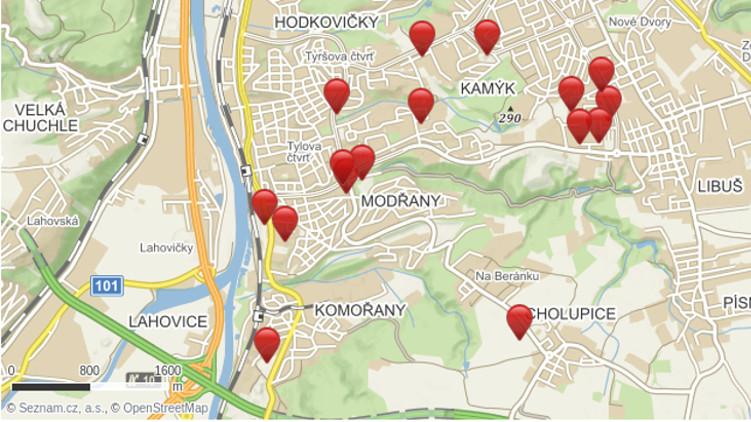 Piráti na Praze 12 vytvořili Mapu developerských projektů