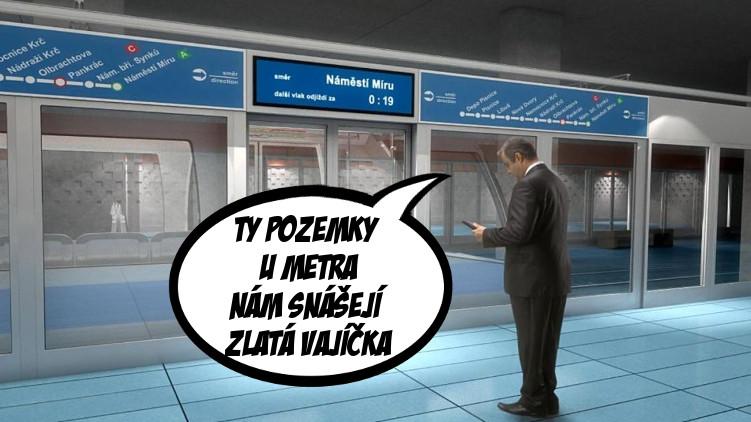 Piráti varují před společným podnikem Dopravního podniku s Pentou k metru D