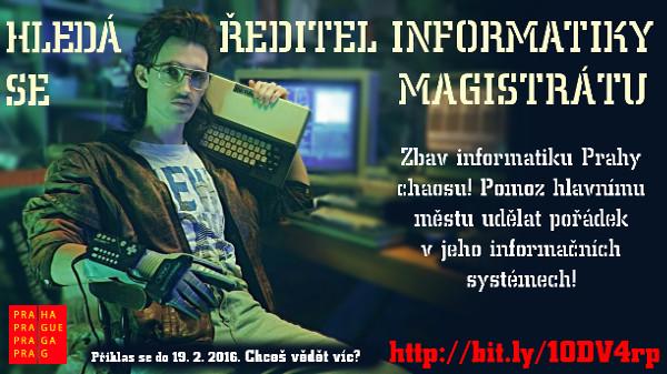 Staňte se ředitelem informatiky pražského Magistrátu.