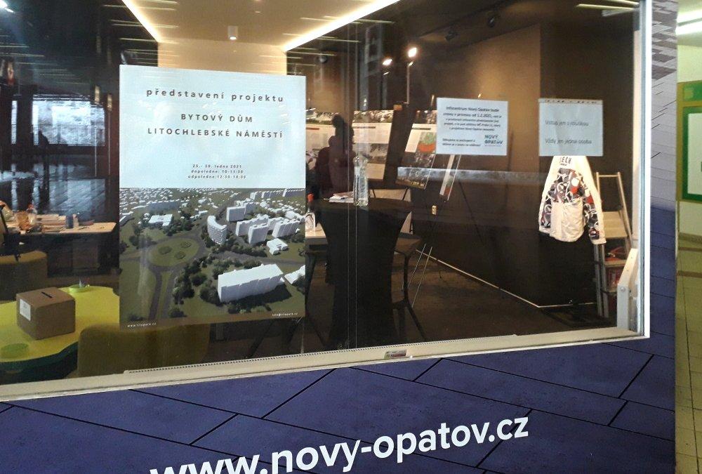 """Veřejná prezentace """"Bytový dům Litochlebské náměstí"""" na Opatově"""