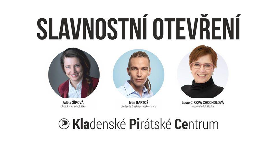 Ivan Bartoš otevře na Kladně Pirátské centrum KlaPiCe