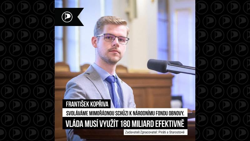 Franišek Kopřiva: Vláda musí využít 180 miliard efektivně