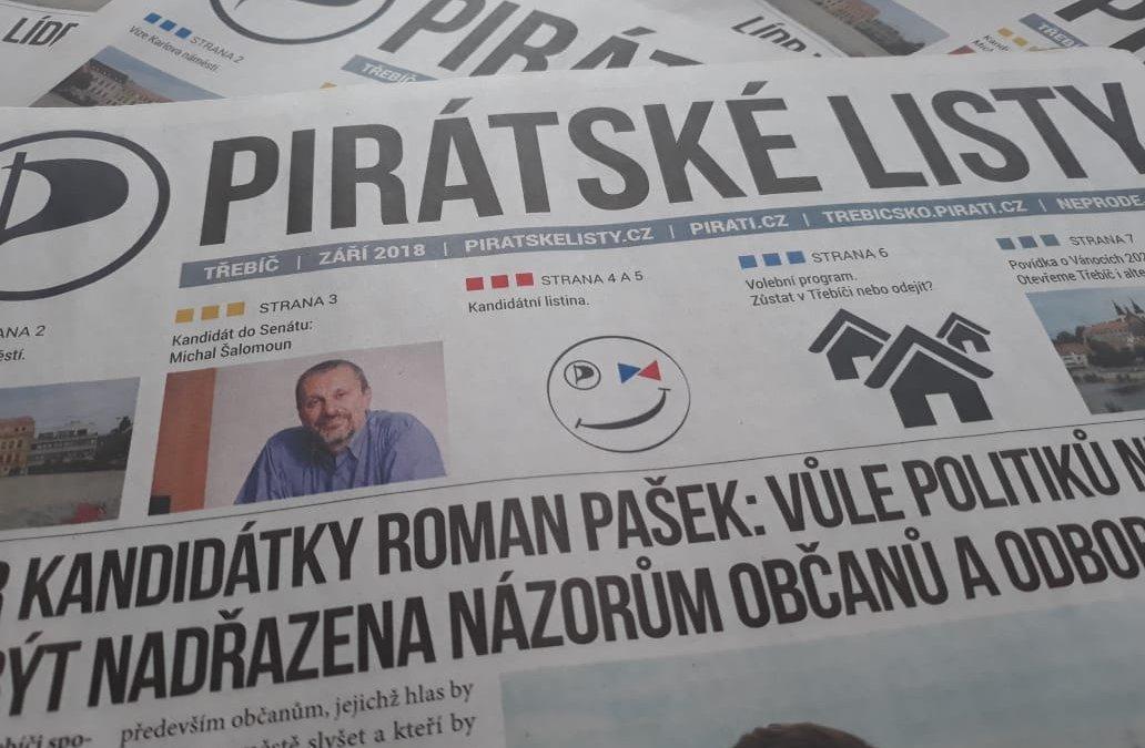 Záříjové vydání Pirátských listů online!