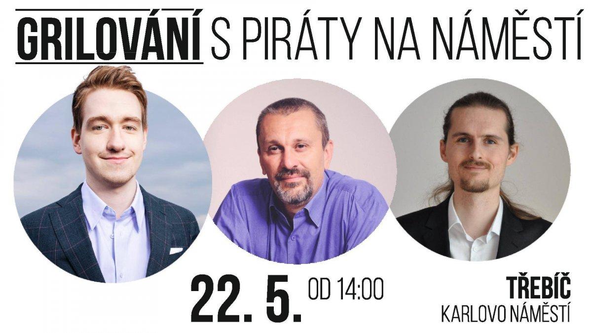 Grilování s Piráty v Třebíči