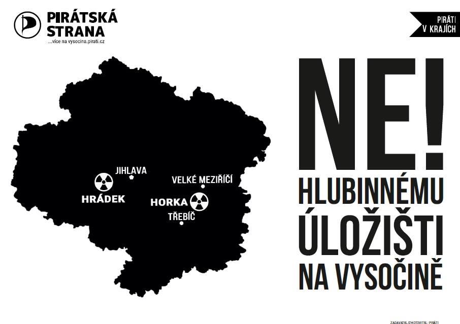 Ne hlubinnému úložišti radioaktivního odpadu v Kraji Vysočina!