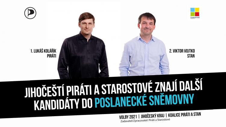 Jihočeští Piráti a Starostové znají první desítku kandidátů pro volby do Poslanecké sněmovny Parlamentu ČR