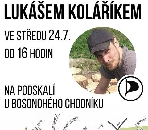 Piknik s poslancem Lukášem Koláříkem na Podskalí ve Strakonicích