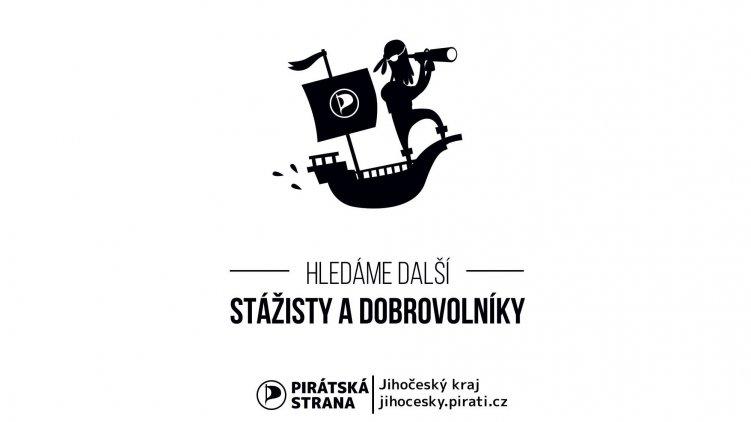 Přivítáme dobrovolníky a stážisty. Přidejte se k Pirátům!
