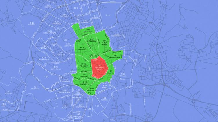 Nová regulace parkování ve městě Brně