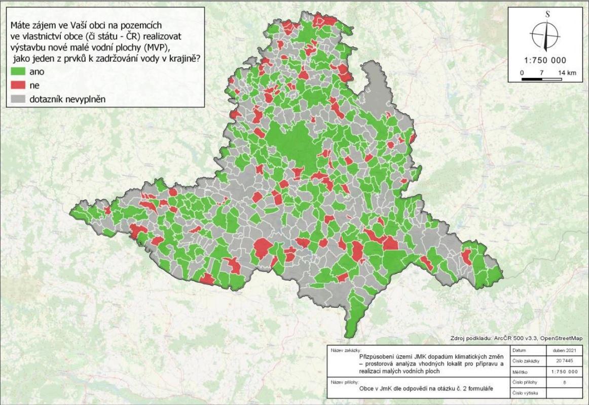 Zájem obcí o malé vodní plochy