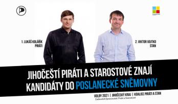 Jihočeští Piráti a Starostové znají všechny své kandidáty do Poslanecké sněmovny Parlamentu ČR