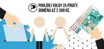 Pohlídejte Eurovolby za Piráty a ještě si přivydělejte