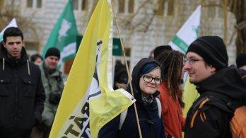Olomoučtí piráti se zúčastnili demonstrace za svobodný Internet