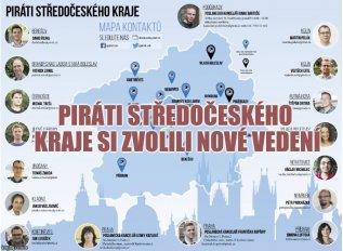 Piráti Středočeského kraje zvolili nové vedení