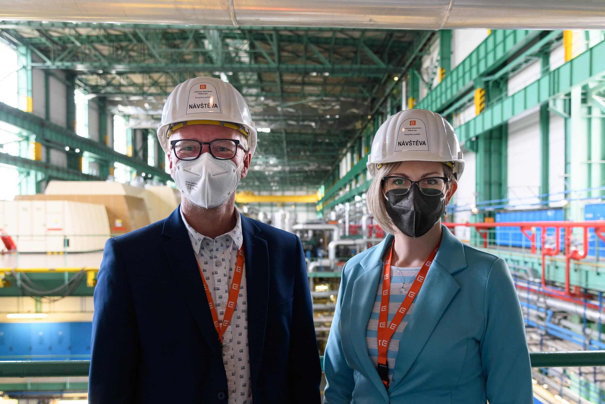 Hana Hajnová – reportáž z první oficiální návštěvy elektrárny Dukovany